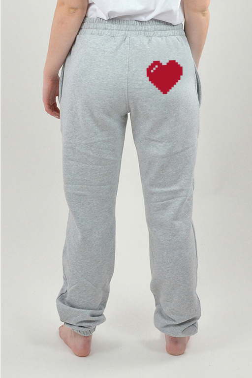 Sweatpants Harmaa, Heart - 3018
