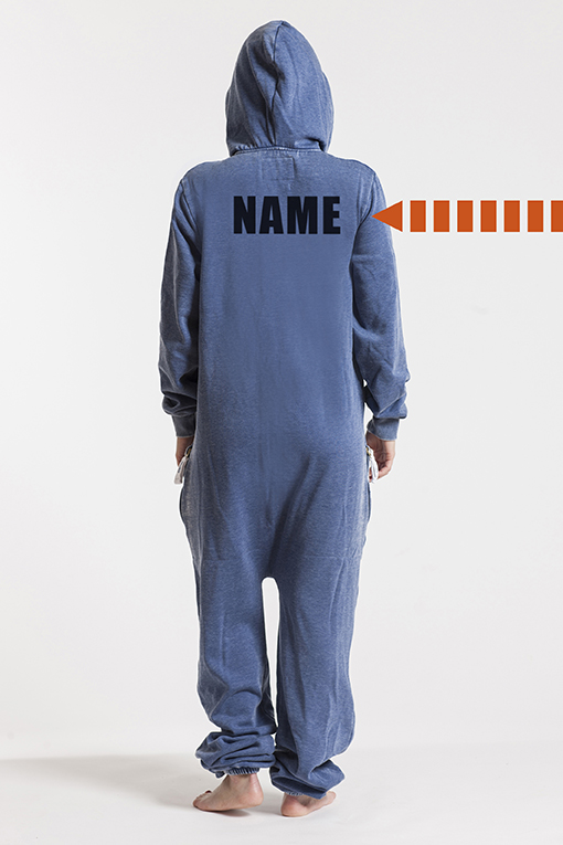Burned Blue, Back Nameprint - 4483