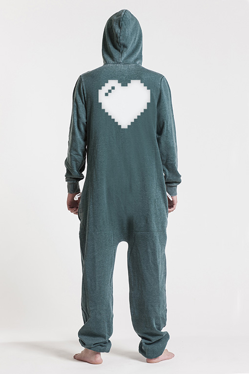 Burned Green, Heart, Jumpsuit - 4849