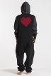 College Black, Heart, Jumpsuit - 4866