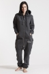 Comfy Dark Grey & Silver, The Boss, Onesie - 5624