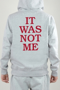 Hoodie Harmaa, It Was Not - 2413