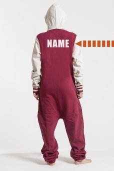College Red, Back Nameprint - 4438