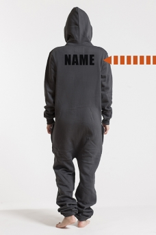 Comfy Dark Grey & Silver, Back Nameprint - 4564
