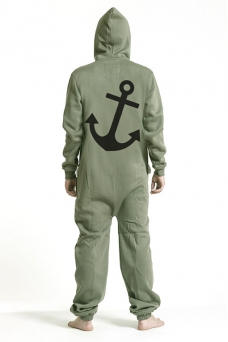 Comfy Armygreen, Anchor, Jumpsuit - 5050
