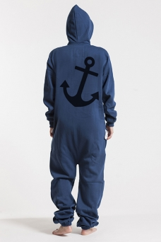 Comfy Navy, Anchor, Jumpsuit - 5066