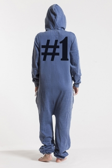 Burned Blue, Hashtag #1, Onesie Jumpsuit - 5091