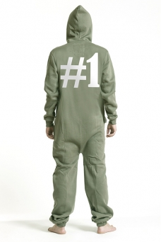 Comfy Armygreen, Hashtag #1, Jumpsuit - 5131